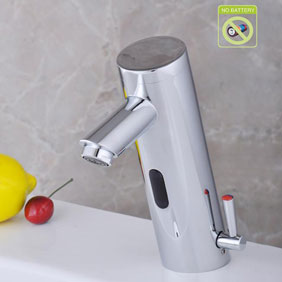 Contemporary Bathroom Sink Tap with Hot and Cold Hydropower Automatic Sensor - T0106AP