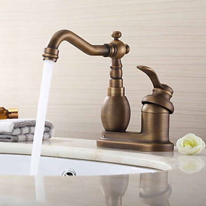 Antique 4 Inch Centerset Brass Kitchen Tap T02002 T02002