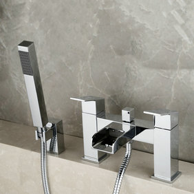 Contemporary Optimus Solid Brass Waterfall Bath Shower Mixer Tap T0218