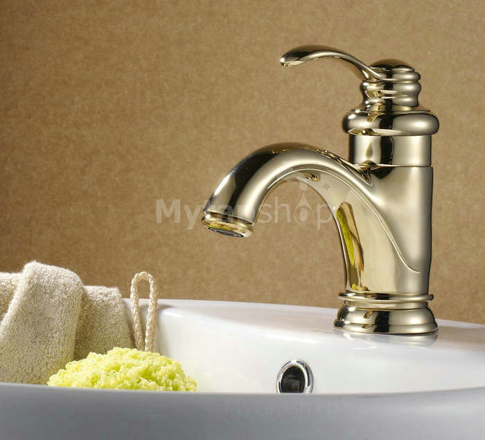 Ti-PVD Single Handle Centerset Bathroom Sink Tap TP0405G