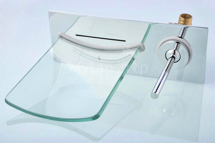 Single Handle Chrome Waterfall Bathroom Sink Tap T0500