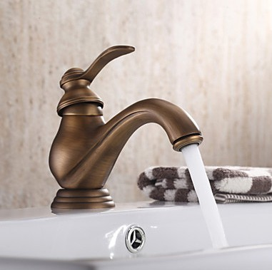 Centerset Single Handle Antique Brass Bathroom Sink Tap TP0480