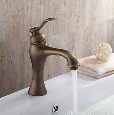Centerset Antique Brass Bathroom Sink Tap TP0493