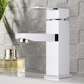 Chrome Finish Solid Brass Bathroom Sink Tap T0509