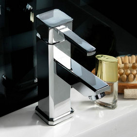 Chrome Finish Solid Brass Bathroom Sink Tap T0513