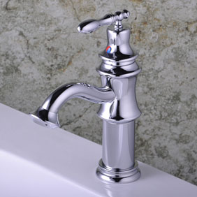 Chrome Single Handle Centerset Bathroom Sink Tap T0536