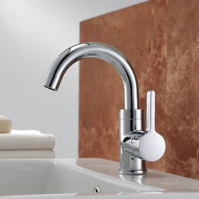 Chrome Finish Solid Brass Bathroom Sink Tap T0542