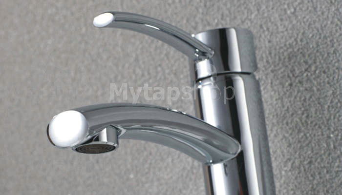 Chrome Finish Solid Brass Bathroom Sink Tap Tall T0543H