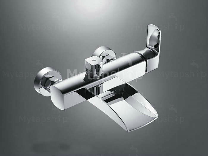 Contemporary Single Handle Wall-mount Waterfall Shower Set Tap - T0556W