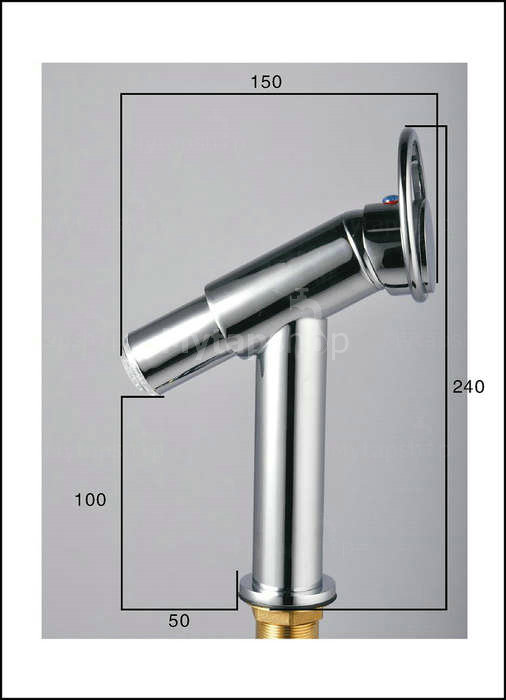 Contemporary Single Handle Chrome Centerset LED Bathroom Sink Tap - T0618F