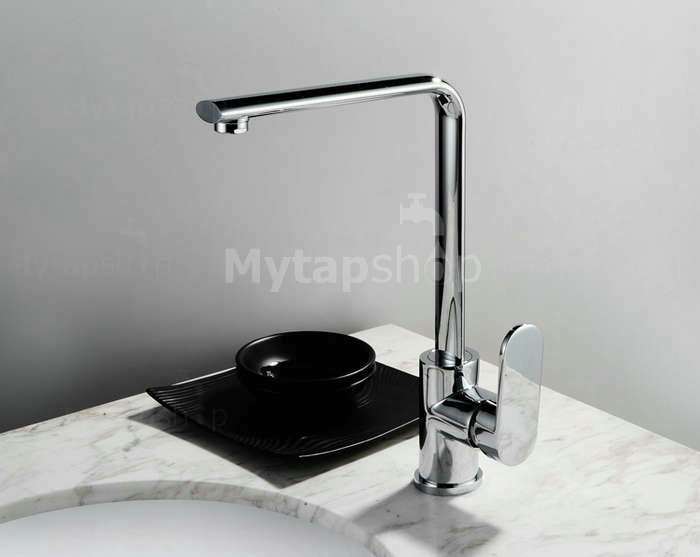 Chrome Finish Solid Brass Bathroom Sink Tap T0716