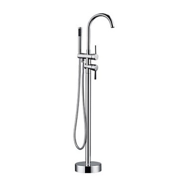 Contemporary Floor Standing Tub Tap with Hand Shower T0722FS