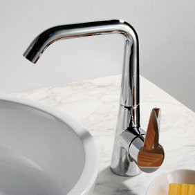 Chrome Finish Solid Brass Kitchen Tap T0787