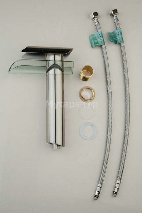 Contemporary Single Handle Nickel Brushed Bathroom Sink Tap T0814HS
