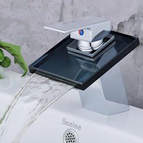 Contemporary Waterfall Bathroom Sink Tap T0815B