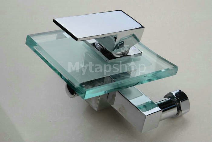 Waterfall Tub Tap with Glass Spout Wall Mount T0815W
