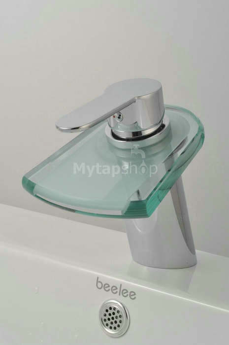 Contemporary Color Changing LED Waterfall Bathroom Sink Tap - T0816F