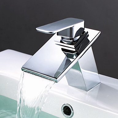 Brass Waterfall Bathroom Sink Tap T0818BR