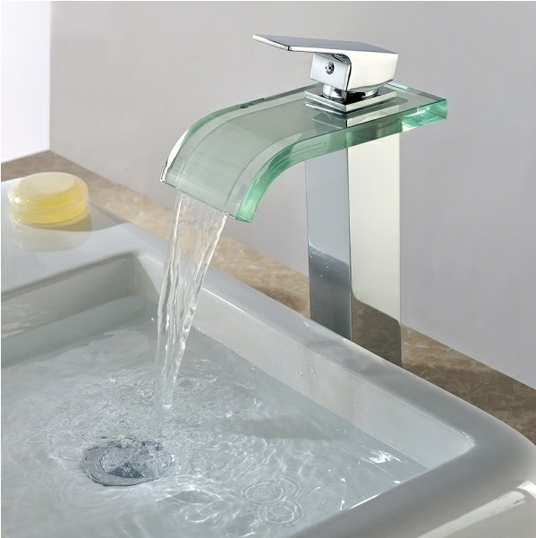 Single Handle Chrome Waterfall Bathroom Sink Tap T0822h