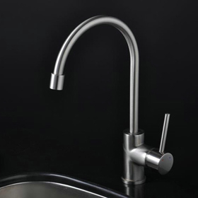 Nickel Brushed Single Handle Kitchen Tap (T1703S)