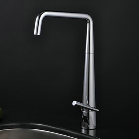 Stainless Steel Contemporary Adjustable Kitchen Tap Chrome Finish T1709