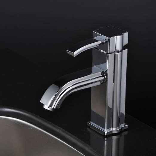Chrome Single Handle Centerset Bathroom Sink Tap T1726