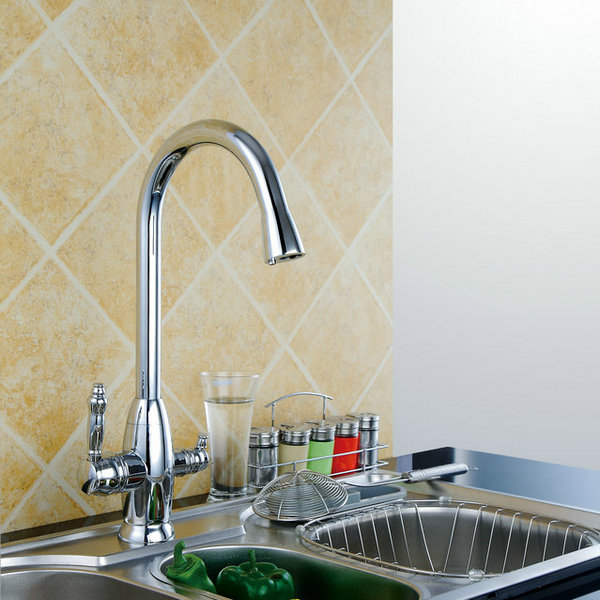 Modern Design Two Handles Mixer Kitchen Tap T3002