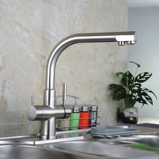 Three Way Kitchen Mixer Tap Pure Water Filter RO Taps ...