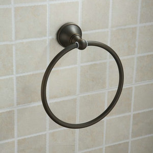 Oil Rubbed Bronze Round Towel Ring TAB1007