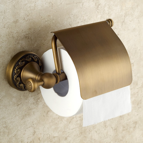 Antique Brass Finish Wall Mounted Toilet Roll Holder TAB6110