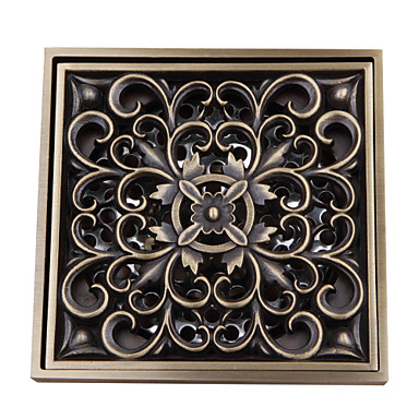 Bathroom Accessory Antique Brass Finish Solid Brass Floor Drain FD004