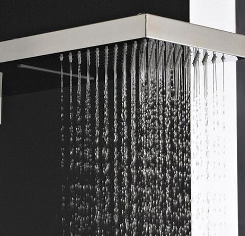 High Quality 304 Stainless Steel Rectangle Rainfall Shower Head HB53B