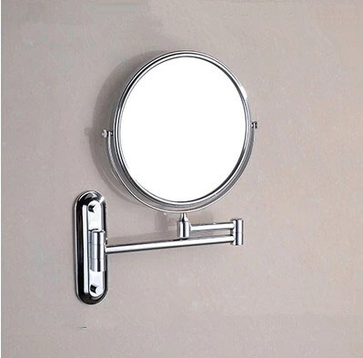 Brass Finish Wall Mounted Bathroom Two Sides Magnifying Glass Cosmetic Mirror Mb005 Mb005