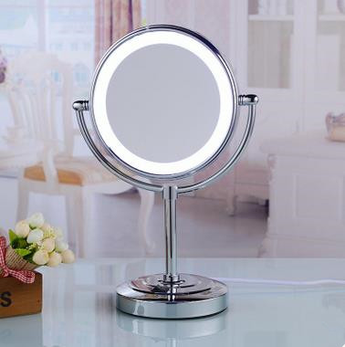 Chrome Finished LED Desktop Make Up Bathroom Mirrors MB015