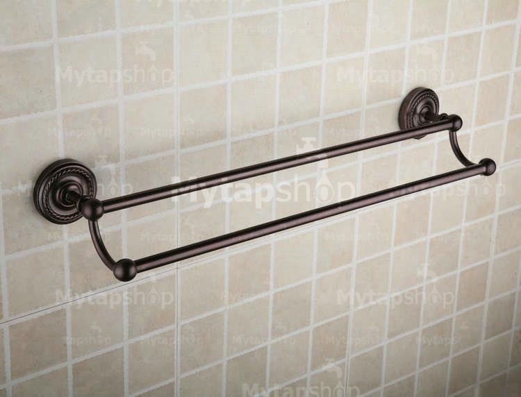 Oil Rubbed Bronze 25 Inch Double Towel Bar ORB1007
