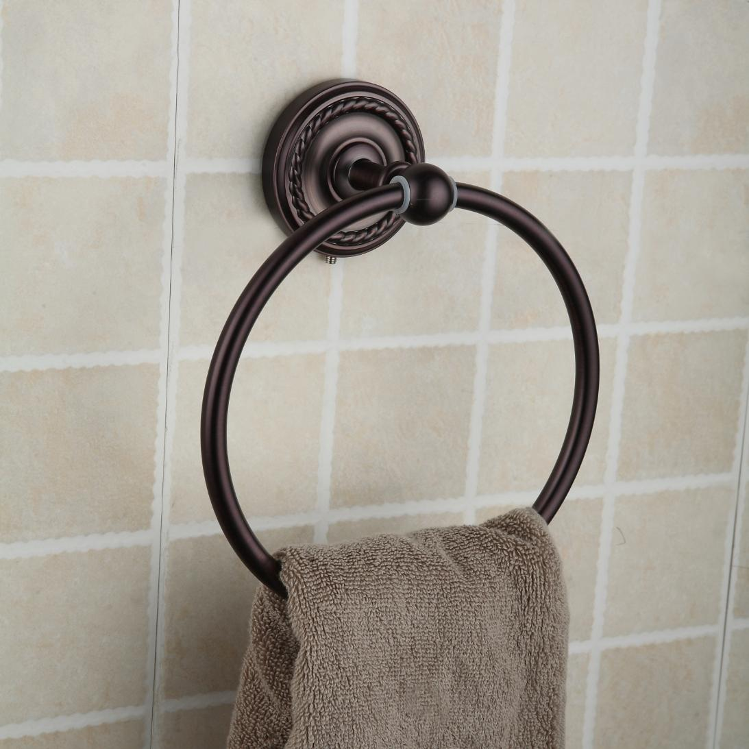 Oil Rubbed Bronze Brass Wall-mounted Towel Ring ORB1009