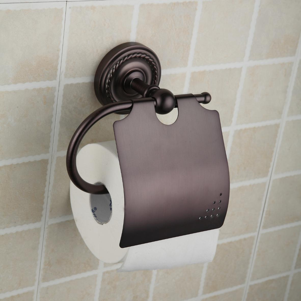 Oil Rubbed Broneze Wall-mounted Toilet Roll Holder ORB1010