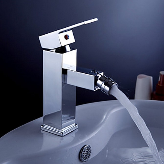 Contemporary Brass Bidet Faucet - Chrome Finish TQ0537