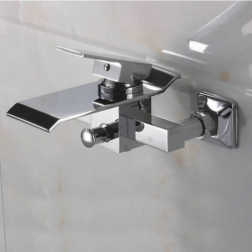 Contemporary Waterfall Brass Bathtub Tap (Wall Mount) TQ3002W