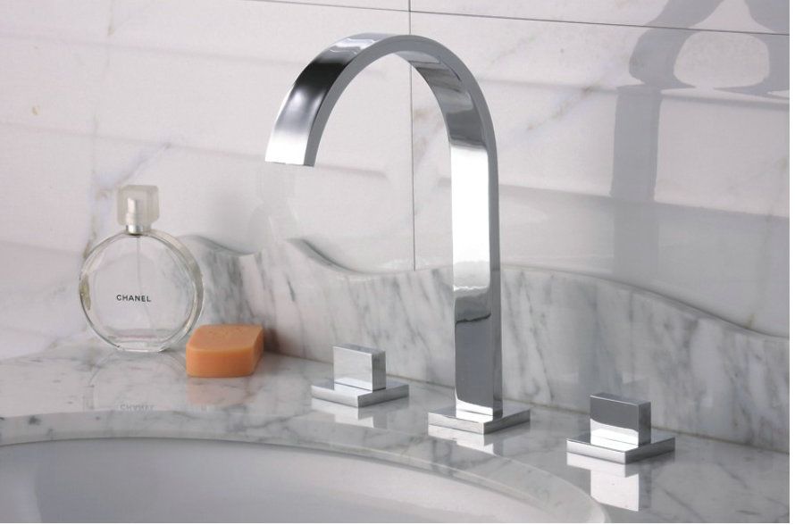 Widespread Contemporary Chrome Bathroom Sink Tap TQ30083