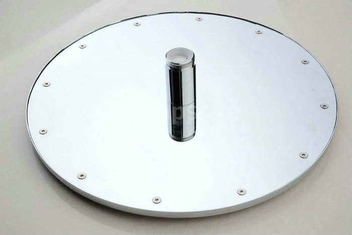 Contemporary Round Chrome Stainless Steel Faint LED Light Shower Head - RB12F