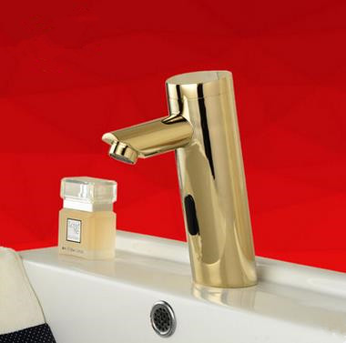 Automatic Taps Antique Golden Cold Water Only Bathroom Sensor Tap T0200G
