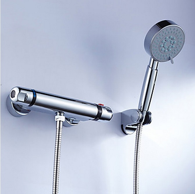 Brass Thermostatic Shower Tap With Handshower TT0213S
