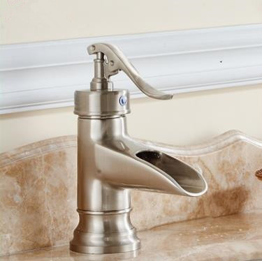 Single Handle Nickel Brushed Bathroom Sink Tap T0599M