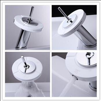 New Three Kinds Water Outlet 360° Rotation Waterfall Mixer Brass Bathroom Tap T1025F