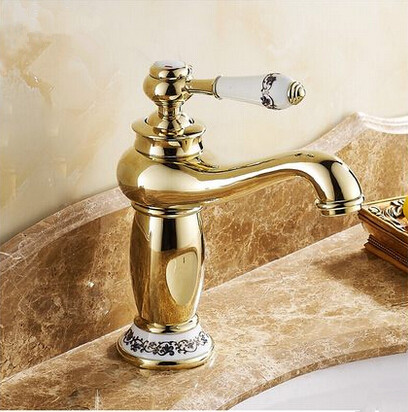 New European Style Mixer Bathroom Sink Tap Ti-PVD T1120SB