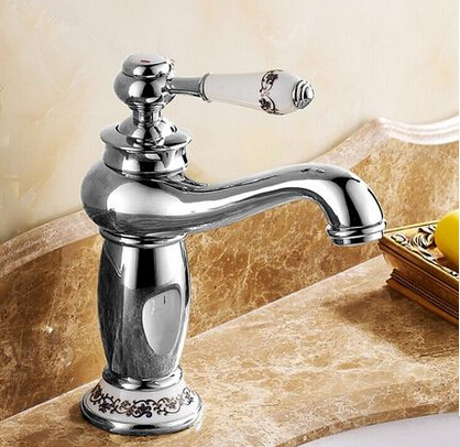 New European Style Mixer Bathroom Sink Tap Chrome T1120SC