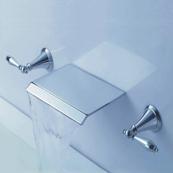 Contemporary Waterfall Bathroom Sink Tap (Wall Mount) T7008B