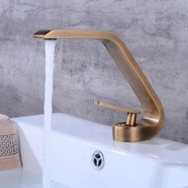 Antique Brass Bathroom Sink Tap Art Designed Mixer Tap TA0119