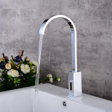 Automatic Taps Brass Chrome Finish Mixer Bathroom Sink Tap TA2020